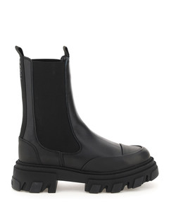 LEATHER MID CHELSEA BOOTS