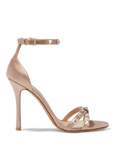 Garavani Woman Crystal-embellished Satin Sandals
