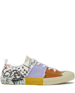 Woman Patchwork Printed Canvas Sneakers