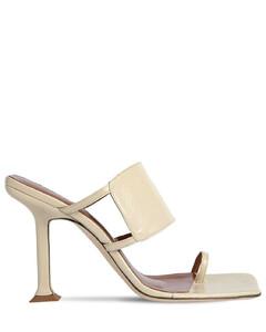 100mm Gigi Leather Thong Sandals