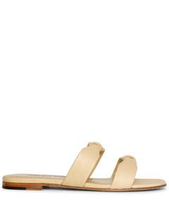 Pallera leather flat sandals