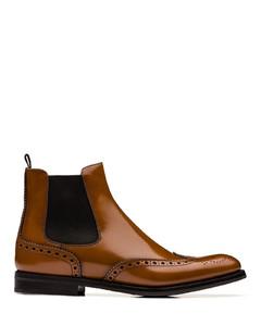 Polished Binder Brogue Chelsea Boot