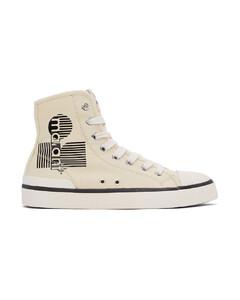 灰白色Bankeen高帮运动鞋