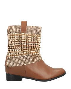 Fombra链条缀饰皮革凉鞋