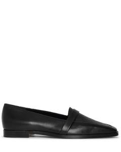 Hydruloa black leather flats