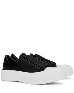 Plinth black canvas sneakers