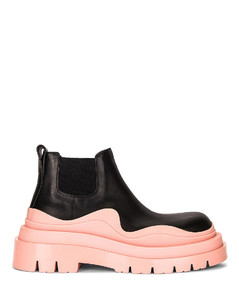 The Tire Ankle Boots in Black,Pink