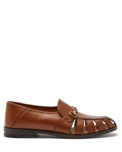 Talete Horsebit cutout leather loafers
