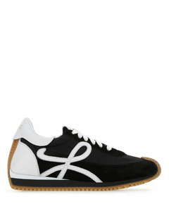 Two-tone fabric and leather Flow Runner sneakers Nd Loewe Donna