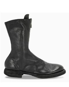Black zip-up boots
