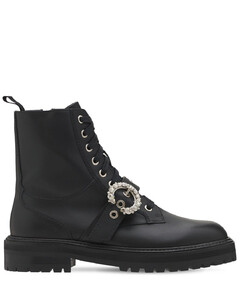 30mm Cora Leather Combat Boots