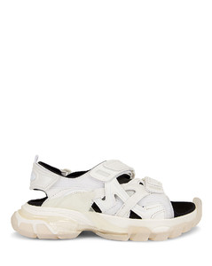 Track Clear Strap Sandals in White
