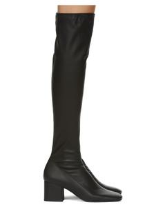 黑色Carlos 42高筒靴