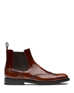 Polished FumèBrogue Chelsea Boot