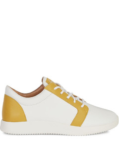 two-tone low-top sneakers