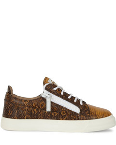 Nicki lizard-print leather sneakers
