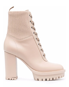 Women's Caryn Suede Heeled Ankle Boots - Sand