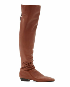 Slouch over-the-knee leather boots