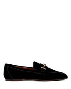 Embellished leather platform sneakers