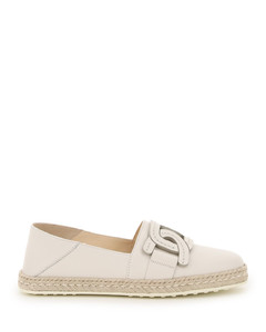LEATHER ESPADRILLES CHAIN