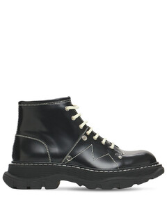 40mm Tread Brushed Leather Combat Boots