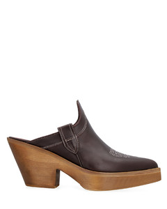 Fanku绑带式贴花皮革踝靴