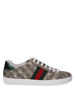 Low-Top Sneakers NEW ACE canvas Logo beige