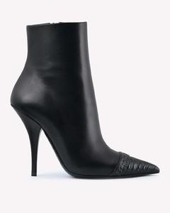 Women's Zoe Embossed Leather Flatform Trainers - Black