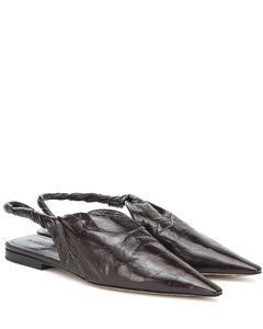 BV Point leather ballet flats