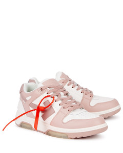 Out of Office two-tone leather sneakers