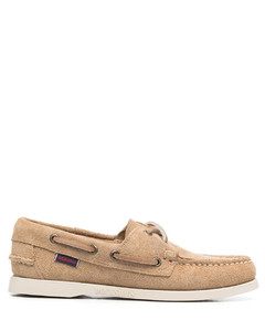 ACHILLES LOW PERFORATED LEATHER SNEAKER