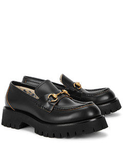 Harald black leather loafers