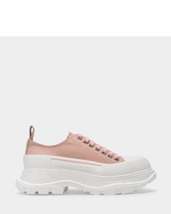 Tread Slick Sneakers in Pink Polyester