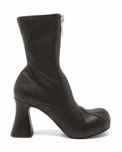 Groove zipped platform ankle boots