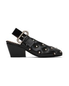 Ballet slipper black suede