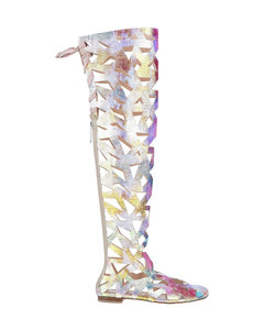Woman Champagne Leather Pumps