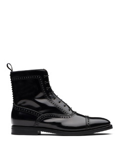 Calf Leather Lace-Up Boot Stud