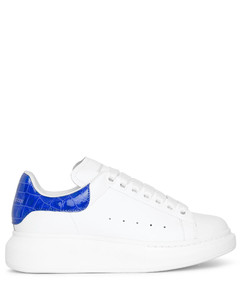White and blue embossed classic sneakers
