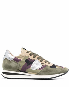 Neven recycled-polyester low-top trainers