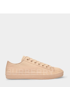 Larkhall Sneakers in Light Almond Cotton Canvas