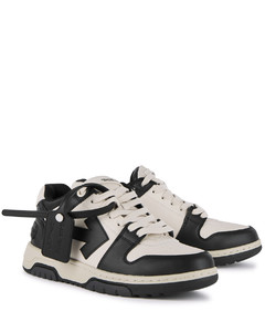 Out of Office monochrome leather sneakers
