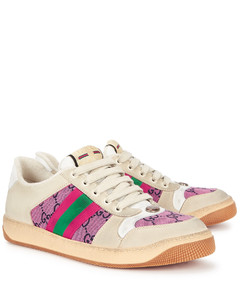 Screener GG panelled leather sneakers