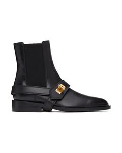 黑色Eden切尔西靴