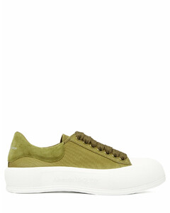 Deck canvas and suede trainers