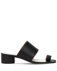 30mm Tabi Leather Thong Sandals