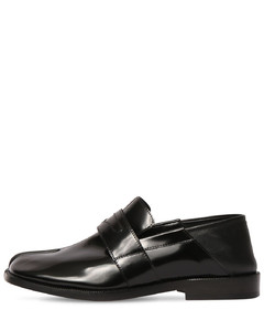 20mm Tabi Brushed Leather Loafers