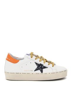 Sneakers Golden Goose for Women White Indaco Leo Orange