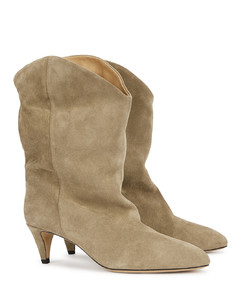 Dernee 65 taupe suede ankle boots