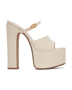 Trekky blue denim-trimmed sandals