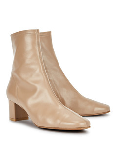 Sofia 65 taupe leather ankle boots